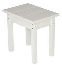End Table, Small, White