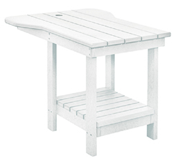 Tete A Tete End Table, White