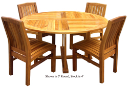 Round Dining Table, 4ft